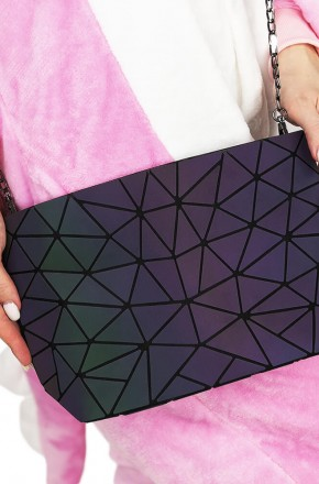 Сумка женская Хамелеон, узор шестиугольный
