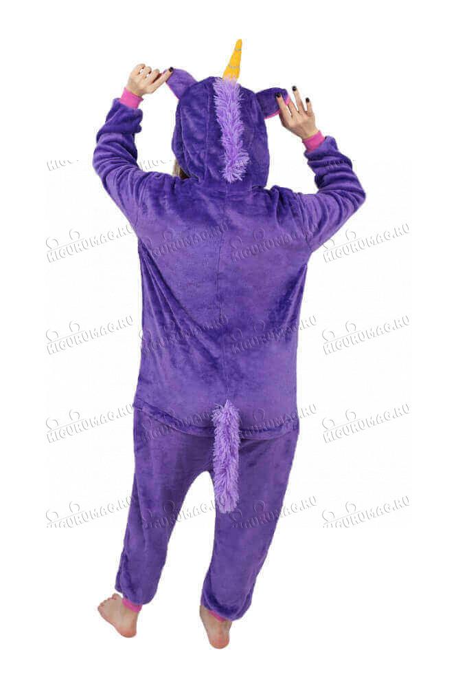Кигуруми Единорог Фиолетовый - 5