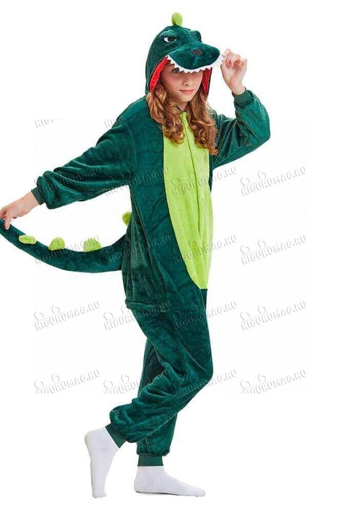 Кигуруми Зеленый динозавр - 4