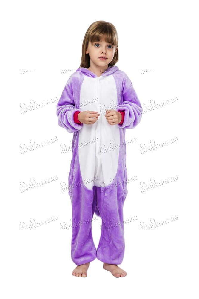 Кигуруми детский Единорог Фиолетовый - 2