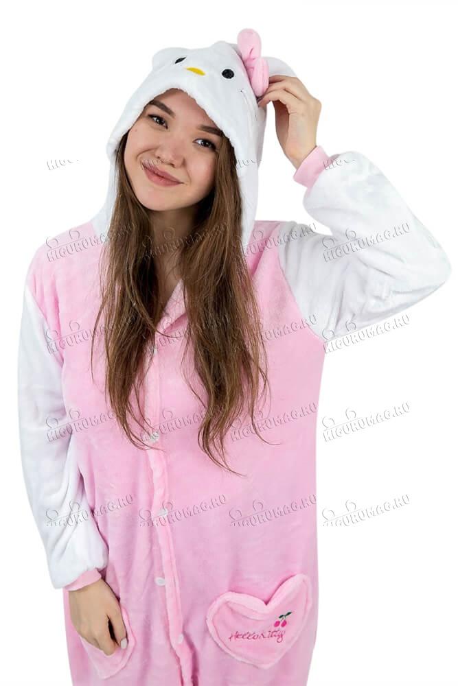 Кигуруми Hello Kitty розовый - 7